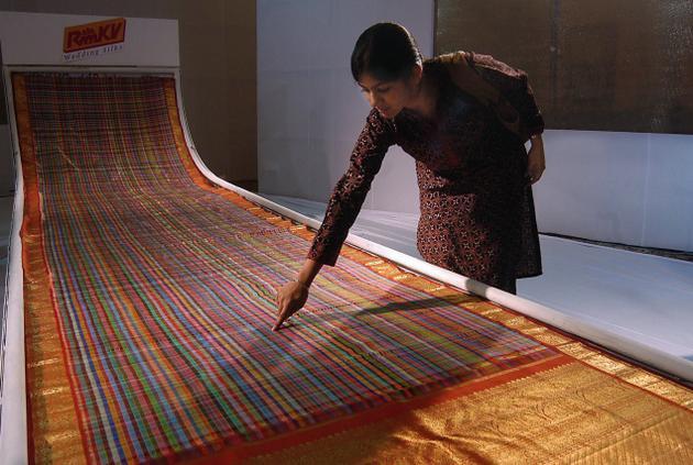 Kanchipuram or Kanjivaram Silk Saree