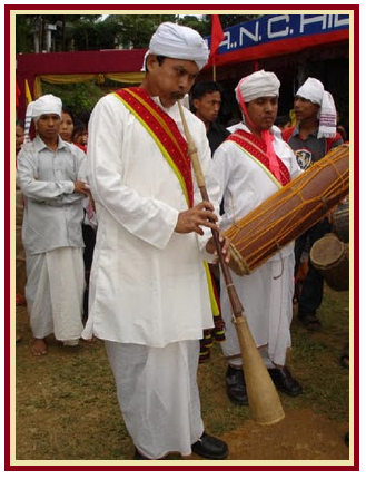 Traditionally Dressed Assamese Men