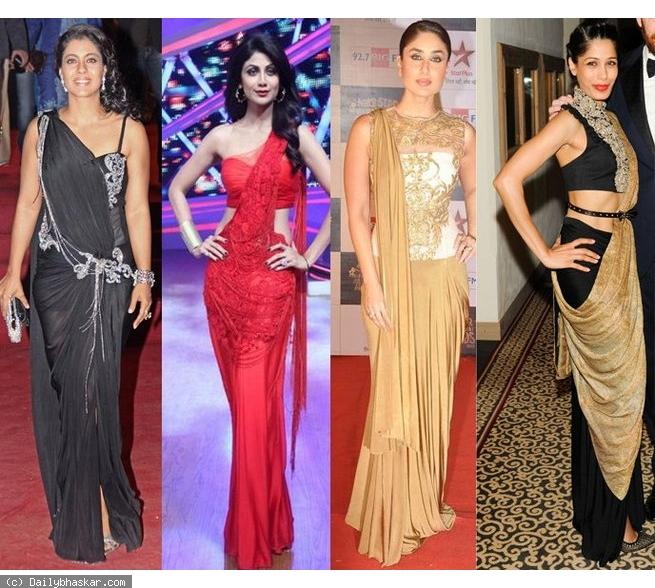 Beautiful Saree Gowns