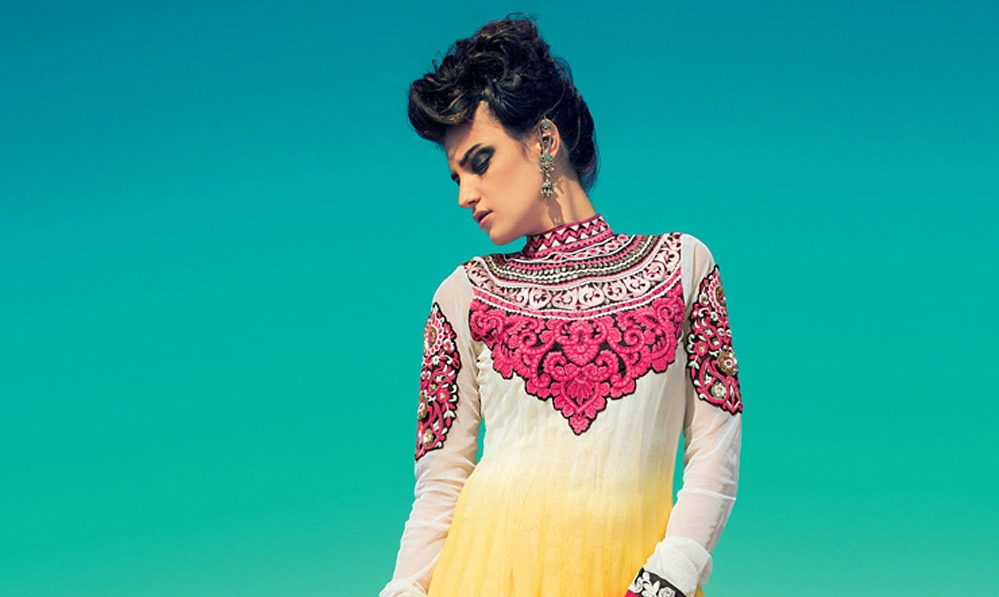 This Navratri, Blend High-Neck With Your Ethnic Attire