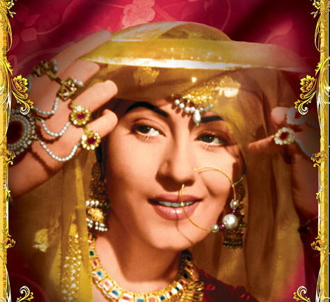 Anarkali (Madhubala) in traditional Indian Jewelry (Image: http://weheartit.com)