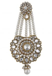 Pearl And Stone Studded Jhapta