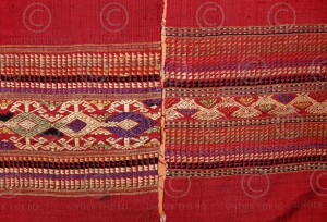 Laos Silk Mosquito Net Border Shawl