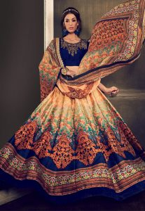 Digital Printed Dupatta With Digital Printed Lehenga