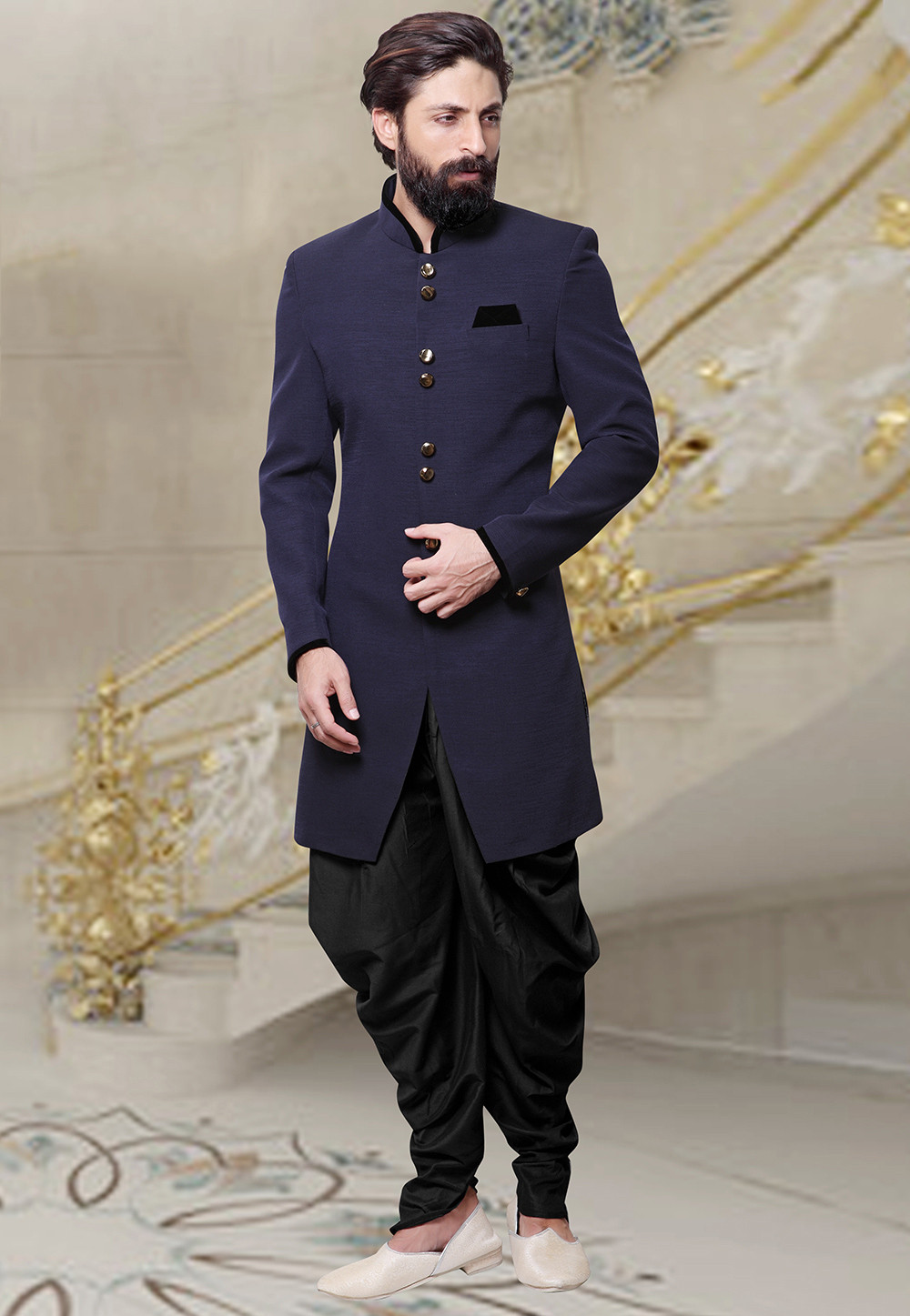 All about mens wedding sherwani designs utsavpedia for Best mens dress shirts under 50