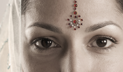 Various forms 'Bindi'
