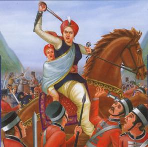 Rani Laxmi Bai in Battlefield