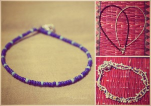 Plastic and Metallic Anklets