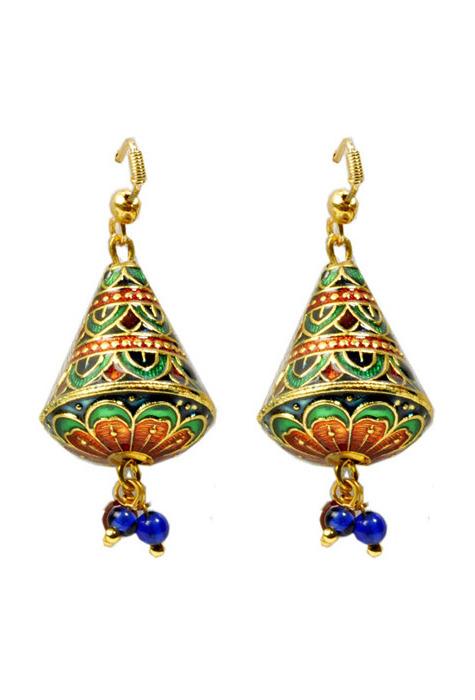 Meenakari earrings at Utsav Fashion