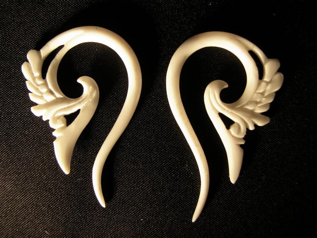 Animal Bone Earpieces