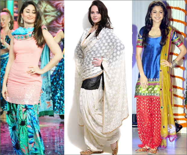 Patiala Salwar with Kurta and Dupatta (Image: http://www.metromela.com)