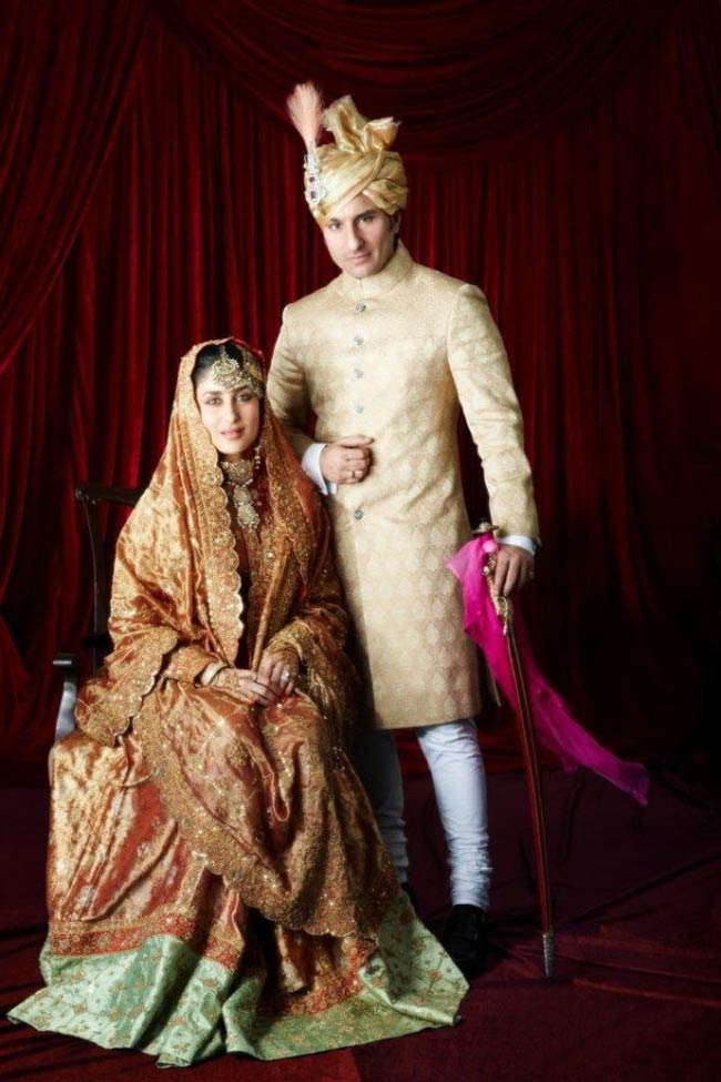 Saif-Kareena in their wedding attire