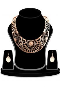 Metallic Necklace Set