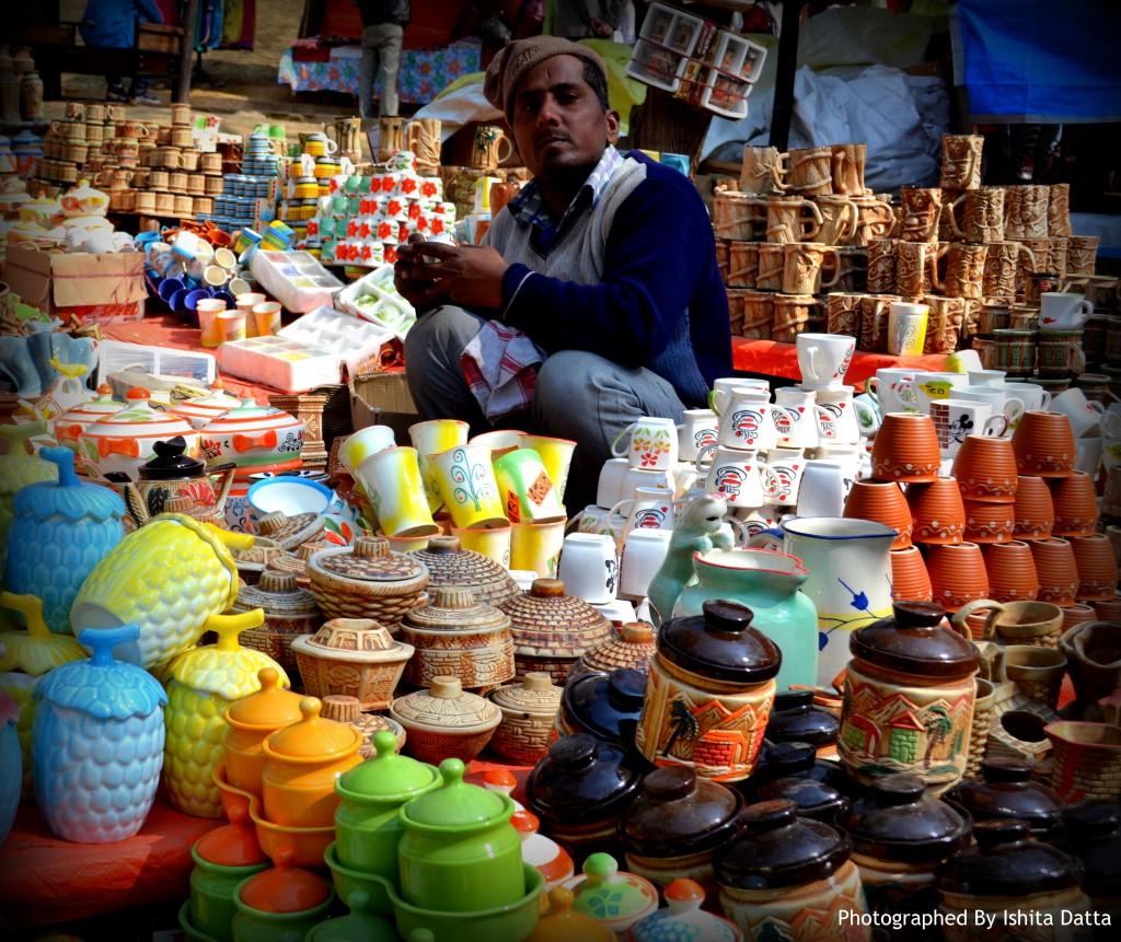 Man selling Ceramics