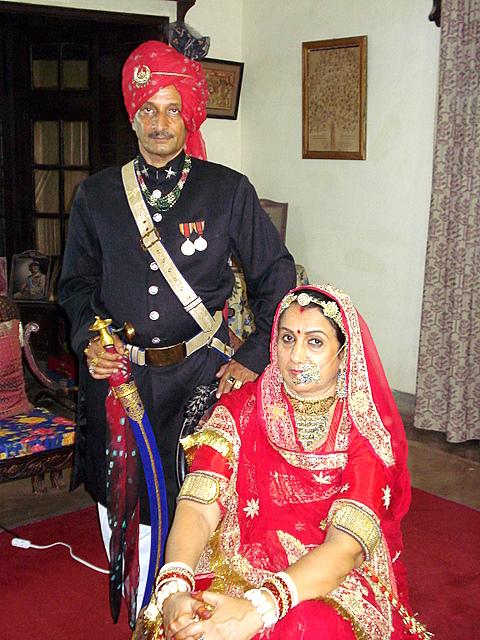 Maharaj Balbhadra Singh and Rani Rohini Kumari