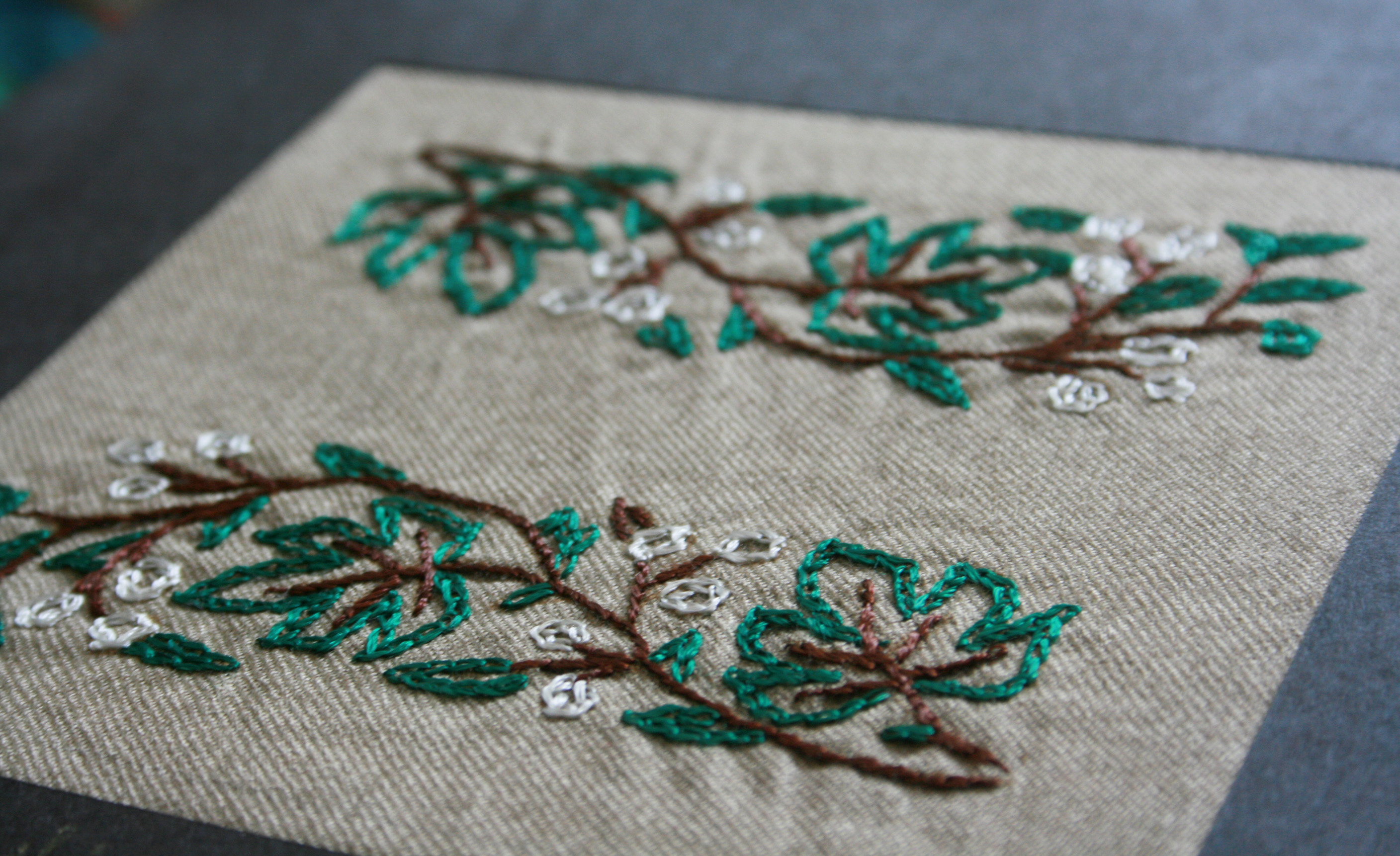 A popular form of needlework is embroidery