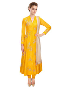 yellow-anarkali-suit