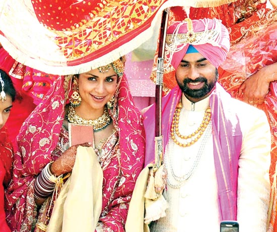 Gul Panag & Rishi Attari Wedding