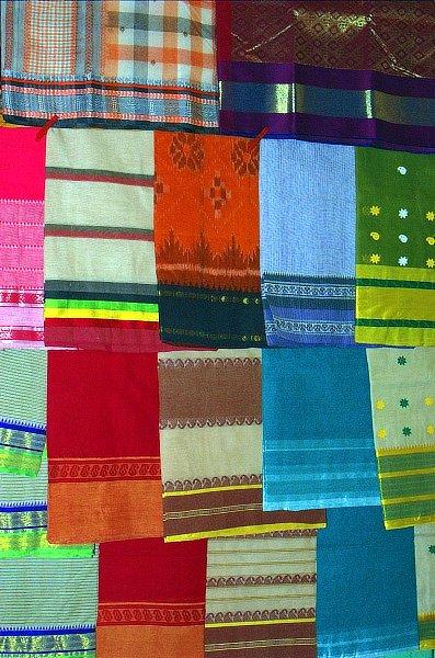 Bengal Handloom Sarees on Display