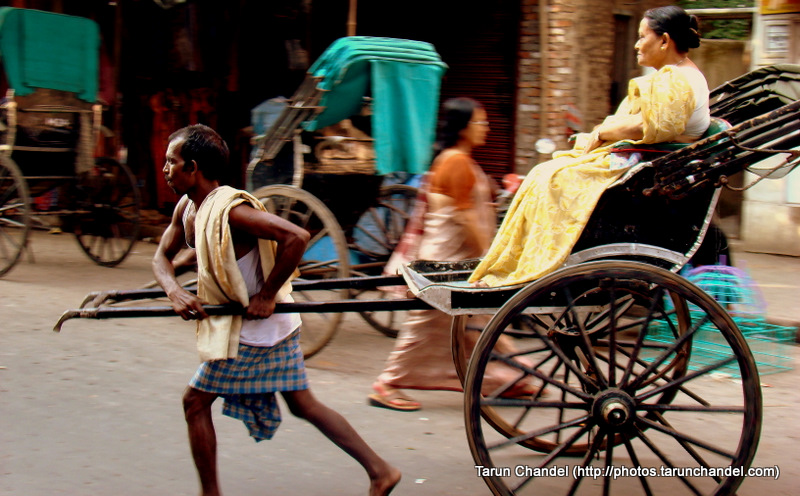 Rickshaw Puller in Kolkata