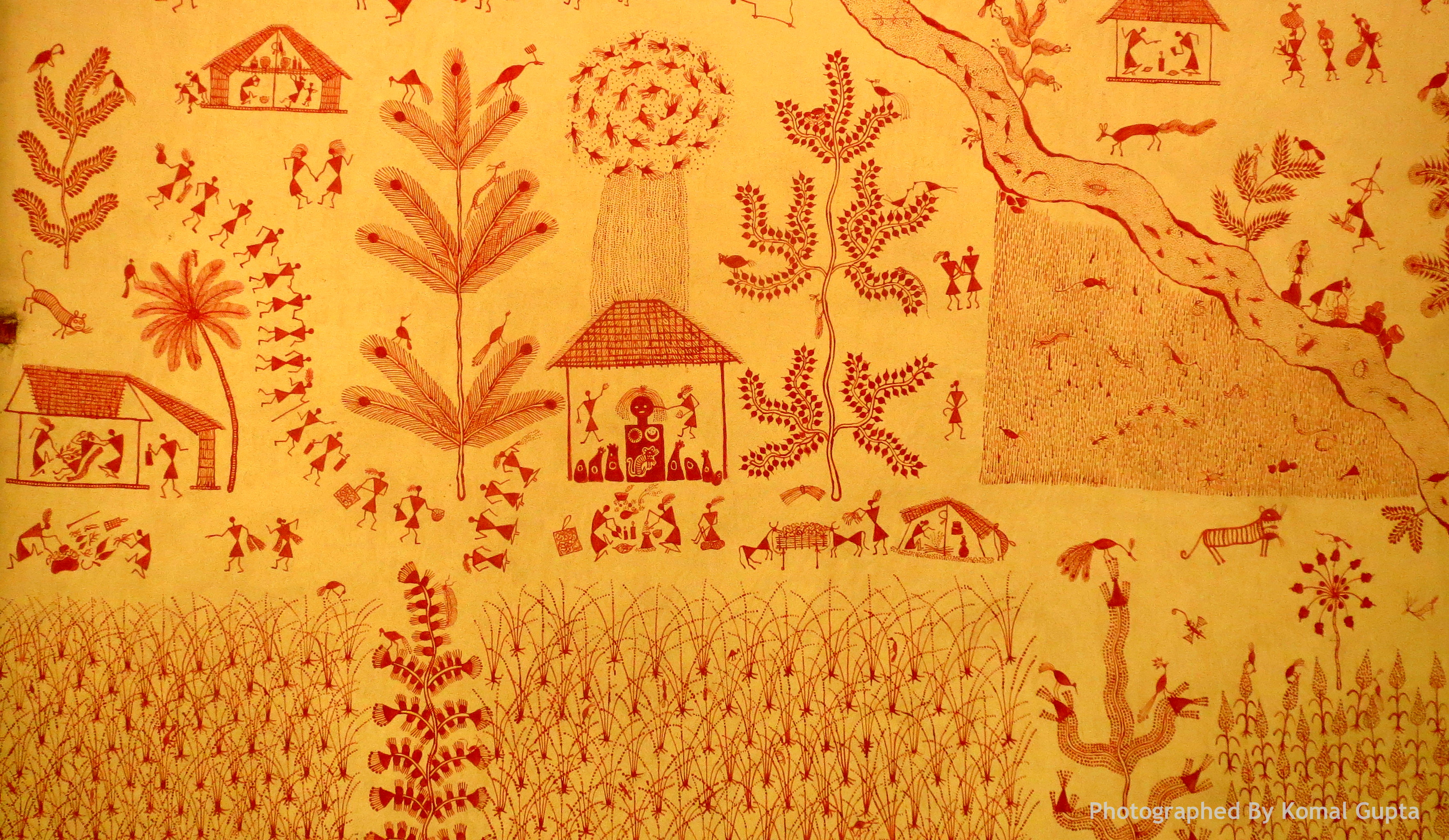 Warli or varli handmade indian maharashtra painting style warli painting photographed by komal gupta altavistaventures Image collections