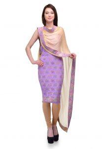 Handloom Pure Katan Silk Suit
