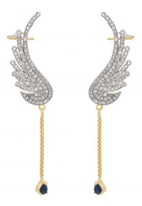 American Diamond Studded Ear Cuffs