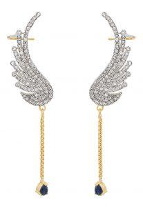 American Diamond Studded Ear Cuffs