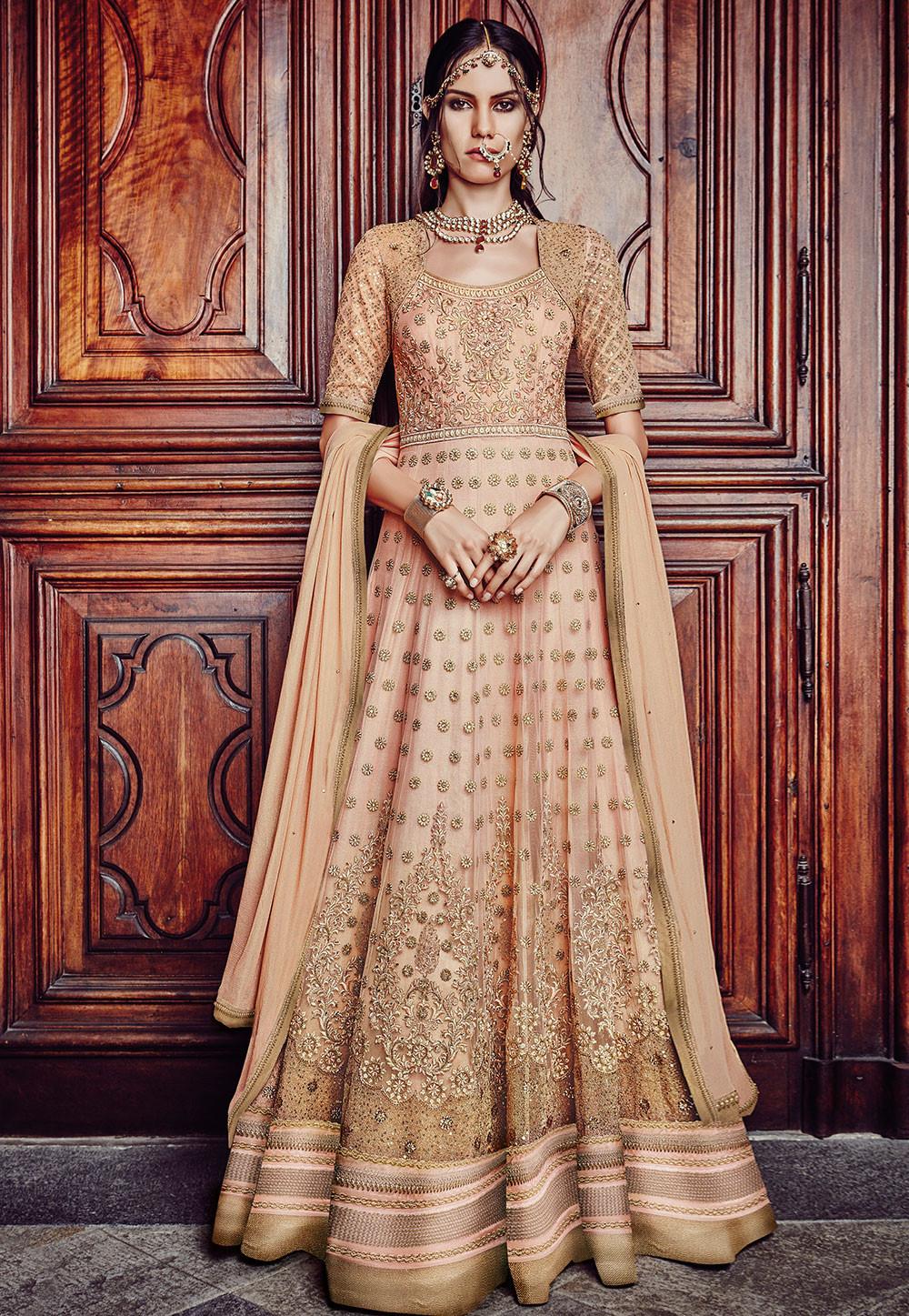 588d8743a3 Floor Length Anarkali Suits Or Abaya Style Suits | Utsavpedia