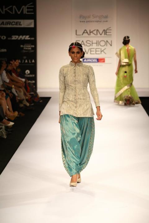 Sherwani Top Styled With Salwars (Image: www.pinterest.com)