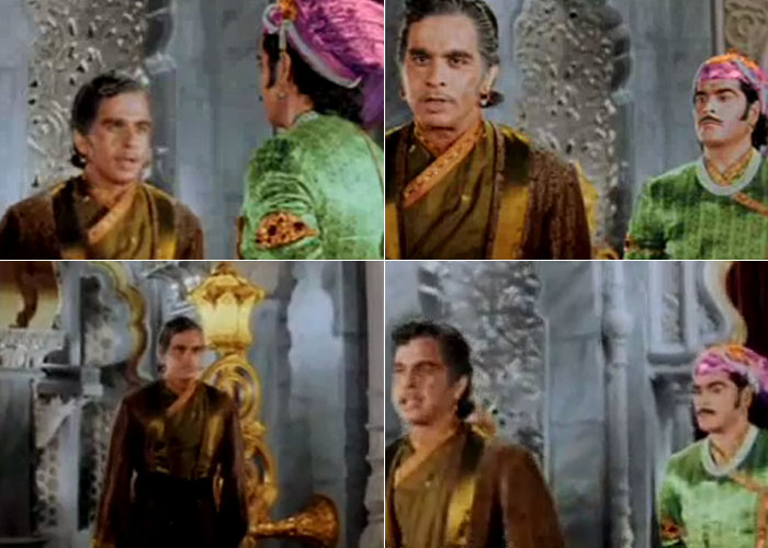 Dilip Kumar as Salim, in a Bagalbandhi attire (Image: http://www.ndtv.com)