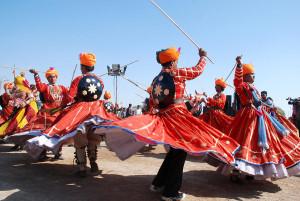Battle Armor as Part of the Dandi Gair Costumes (Image: http://www.rajasthanvisit.com/Gair-Dance.htm)