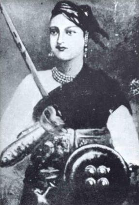 Rani Laxmibai's Restored Picture (Image: https://en.wikipedia.org)
