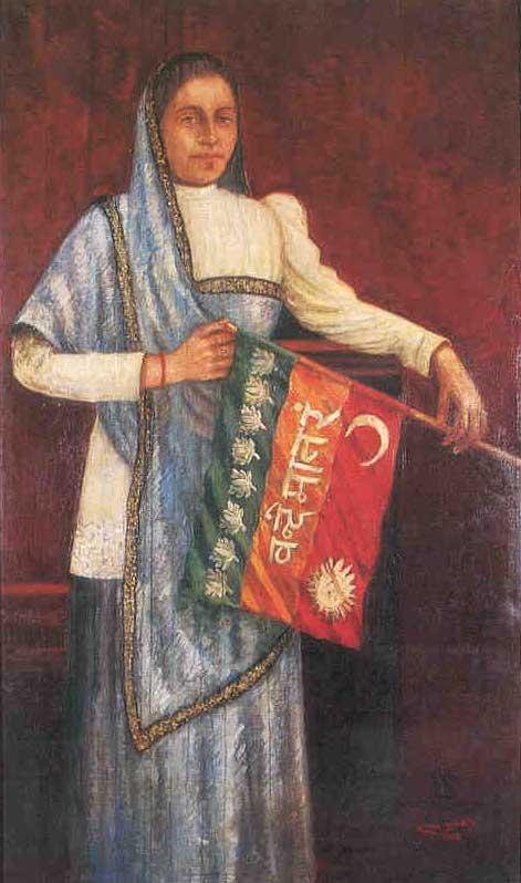 Bhikaji Cama (Image: http://www.artoflegendindia.com)