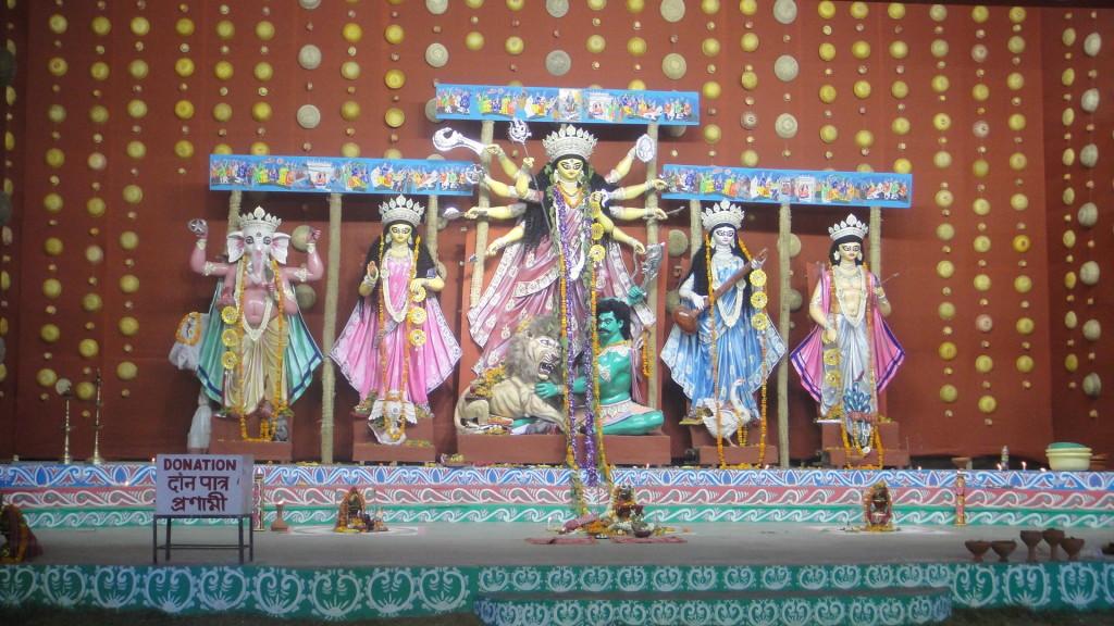A Durga Puja Pandal. (Image: Timescity.com)