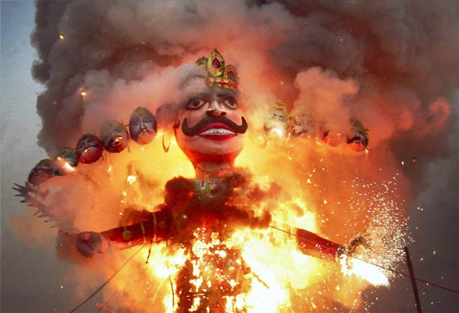 Dussehra celebrations. (Image: Indiatoday.intoday.in)