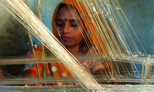 Weaving of Banaras Brocade