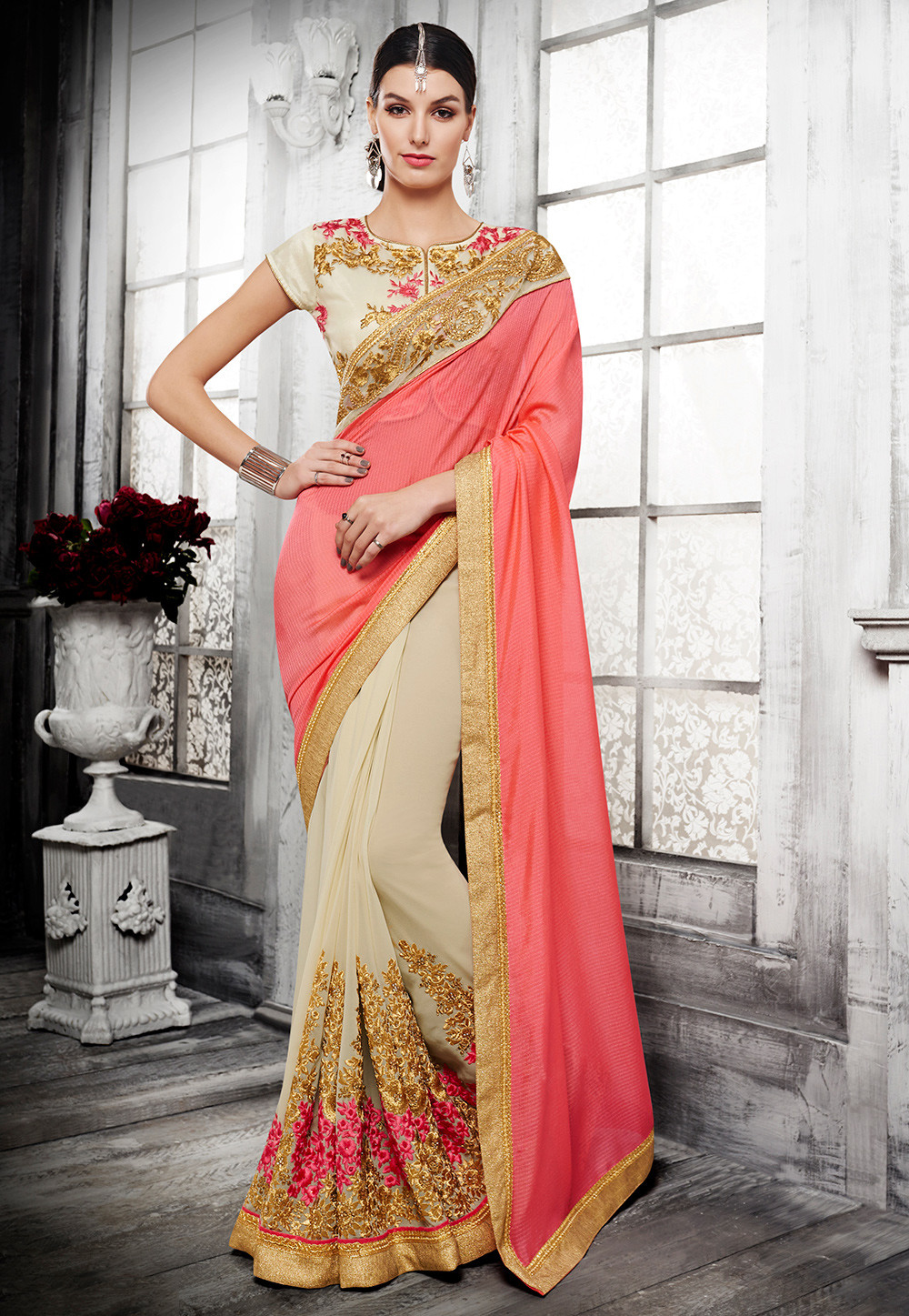 129984f034 Half Half sarees - Designs, Varieties, History and more | Utsavpedia